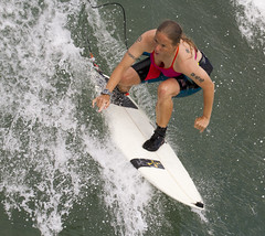 Tough ride (San Diego Shooter) Tags: surfer surfing sandiego pacificbeach surfergirl girl