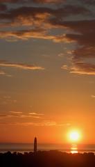 Dunbar Lighthouse Sunrise - Dunbar Coast - Scotland (Gilli8888) Tags: sunrise torness dunbar scotland coast coastline sun sea seaside clouds silhouette dunbarlighthouse lighthouse northsea
