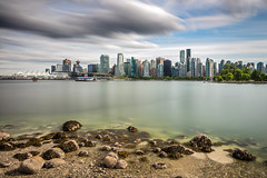 Long exposure of Vancouver City (PIERRE LECLERC PHOTO) Tags: longexposure sea sky urban canada water vancouver clouds buildings landscape cityscape bc skyscrapers britishcolumbia pierreleclercphotography canon5dsr