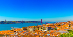 Lisboa (BS_86) Tags: travel bridge vacation panorama sun house water canon river photography eos 50mm reisen wasser fotografie mark lisboa explore ii 7d lissabon christi brcke fluss sonne ferien christus lightroom huser