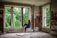 Braking the Rules (Brannan Photography) Tags: portrait urban house abandoned canon pose graffiti model decay ruin naturallight wideangle explore forgotten exploration abandonedbuilding urbex abandonedplaces urbexing canon700d