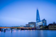 Shrouded Shard (Ian Allon) Tags: city longexposure bridge england urban cloud london water thames skyline skyscraper buildings river cityscape unitedkingdom gb shard leefilters bigstopper