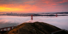 Engulfed in Fog (Praveen Thalla) Tags: fog sunrise san francisco goldengatebridge karl lfe