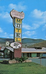 Desert Motel, Cache Creek, BC (SwellMap) Tags: architecture vintage advertising design pc 60s fifties postcard suburbia style kitsch retro nostalgia chrome americana 50s roadside googie populuxe sixties babyboomer consumer coldwar midcentury spaceage atomicage