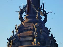 Columbus Monument (Darren-Holes) Tags: olumbusmonument barcelona spain monument christophercolumbus columbus point column monumentacolom larambla catalonia bronze corinthiancolumn pedestal plinth lion statue