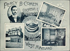 Percy B. Cohen, Dentist, Maitland, N.S.W. (maitland.city library) Tags: maitland newsouthwales beautiful sydney fertile west newcastle coalopolis george robertson 1896 university california libraries percy cohen dentist harts buildings surgeon mechanical