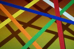 Stripes and their Shadows MM (Wim van Bezouw) Tags: abstract color macro lines stripes mondays macromondays