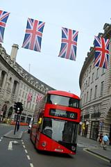 Flags Out For HM (dhcomet) Tags: red bus london jack flag union regentstreet 12 twelve doubledecker newroutemaster