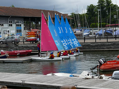 last minute instructions (forkcandles) Tags: blue school red water buildings boats colours outdoor sail pontoons floatingharbour cityandcountyofbristol fz1000 forkcandles fz1000panasoniccamera