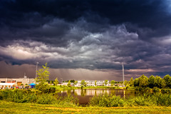 Run For Shelter On A Sunday Walk! (Alfred Grupstra Photography) Tags: lake water clouds landscape nederland thunderstorm nl overijssel tubbergen