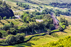 Go Your Own Way (whosoever2) Tags: uk greatbritain railroad england train lune river landscape nikon motorway unitedkingdom railway trains virgin cumbria gb gorge m6 pendolino class390 d7100