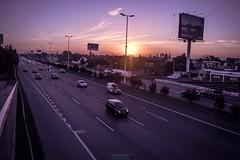 Atardecer de invierno en el Acceso Oeste (Vamonon) Tags: buenos aires provincia conurbano autopista automoviles carretera trafico transito embotellamiento argentina atardecer invierno otroo frio luces