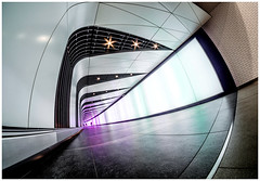 To infinity and beyond... (kevingrieve610) Tags: kings cross tunnel fisheye samyang 8mm fujifilm wow ultrawide trip vacation city london