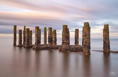 Woodhenge (Steve Clasper) Tags: longexposure seascape beach coast coastal posts northeast hartlepool nd110 steetley steveclasper