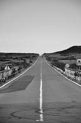 The straight & narrow (CJS*64) Tags: road blackandwhite bw portugal monochrome mono blackwhite nikon highway ride nikkor dslr madeira whiteandblack whiteblack nikkorlens straightnarrow d7000 nikond7000 18mm105mmlens