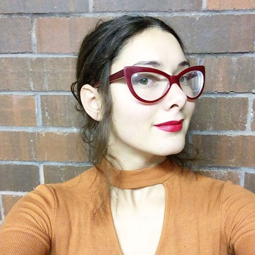 f15234f6f6 Stunning brunette blogger with big cateye glasses - a photo on ...
