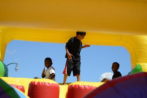 Kids playing on Somali Independence Day
