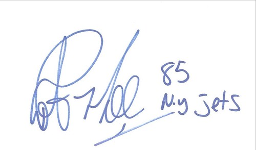 Autographed 3x5 Card - Rob Moore