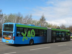Go North East 4951 (NK51OLT) - 05-05-13 (03) (peter_b2008) Tags: buses transport wright articulated coaches scania bendybus gonortheast 4951 buspictures gonorthern goaheadgroup l94ua solarfusion nk51olt greatparkandride