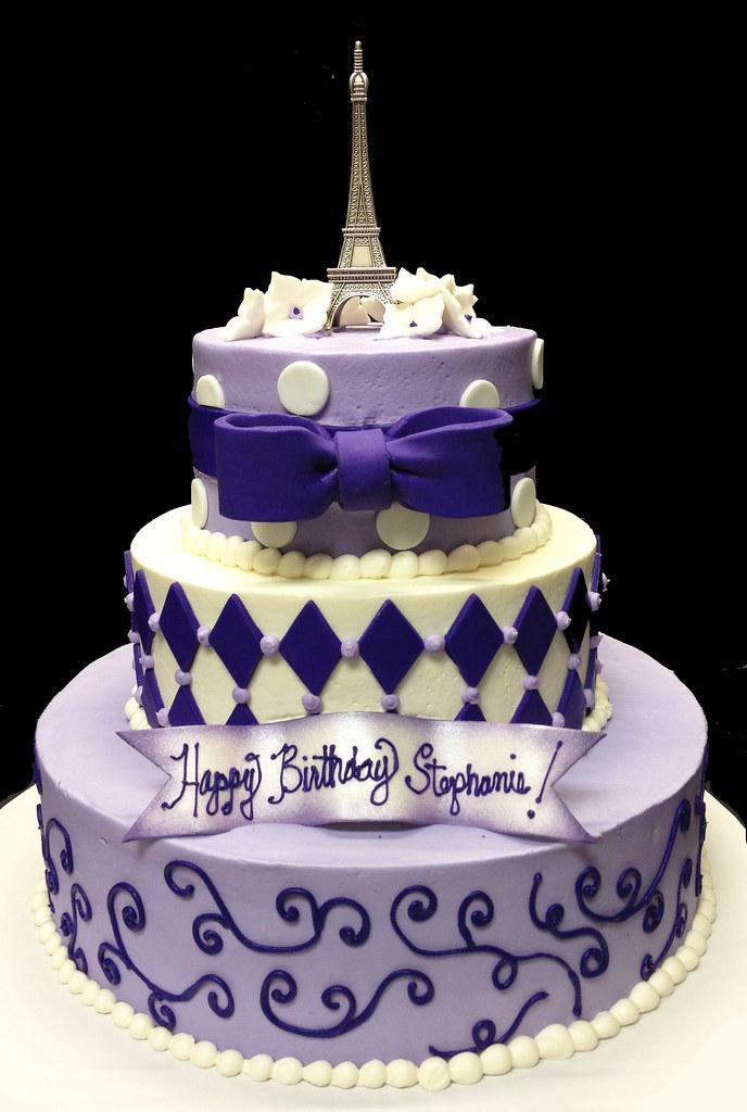 Pink Checkered Birthday Cakes