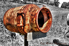 Mailbox with Character (Kaye Menner) Tags: old red white black texture yellow mailbox rural rust rusty rusted postbox letterbox hdr corrosion corroded redrust oldmailbox rustymailbox ruralmailbox blackandwhitebackground oldletterbox rustyred countrymailbox rustedmailbox countryletterbox kayemennerphotography kayemenner kayemennermiscellaneous mailboxwithcharacter texturedmailbox texturedletterbox rustyletterbox rustedletterbox corrodedmailbox