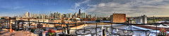 SKSmedia-RiverWestRooftops (SKSchicago) Tags: city flowers roof panorama skyline clouds canon spring cityscape rooftops bluesky deck 7d flowerpot trumptower hancock johnhancock willis presidentialtowers sks rivernorth fluffyclouds cityofchicago willistower sksmediacom skschicago