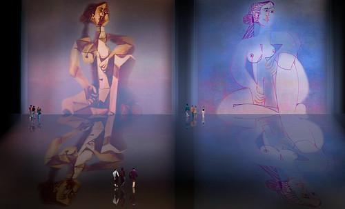"Mujer Sentada, geometrización de Pablo Picasso (1953), abstracción de Roberto Real de León (2013). • <a style=""font-size:0.8em;"" href=""http://www.flickr.com/photos/30735181@N00/8805345651/"" target=""_blank"">View on Flickr</a>"