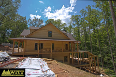 Progress of a custom house in Blue Ridge, GA (GarrettAndersonPhotography) Tags: blue house building home ga georgia bathroom photography log construction cabin garage basement ridge company garrett deck anderson siding renovation remodel custom inc witt renovate roofing porches gilmer ellijay fannin gutting