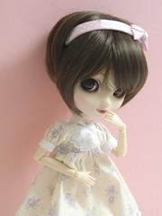 Ayumi(Pullip Bonita) (Lili-Cupcake) Tags: white dress handmade s wig bonita pullip custom limited edition ayumi sbh leeke obitsu chocobrown
