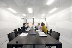 comfortable contemporary office design meeting room