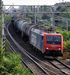 Trecate! (Raffaele Russo (LeleD445)) Tags: railroad train italia milano siemens rail sbb spot cargo esso sr railfan spotting millet lecco monza traxx vtg mrce trecate br189 e189 e474 re474 displook