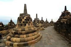 Stupas (VincentDcs) Tags: canon indonesia temple photography java photo photos stupa borobudur canon1022 600d canon600d