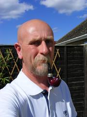 006 (treeman973) Tags: smoke pipe bald moustache shavedhead baldguy pipesmoker
