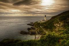 Douglas Head Lighthouse, Isle of Man (Heathcliffe2) Tags: sunset lighthouse beach clouds landscape dusk head douglas isleofman waterscape douglasharbour