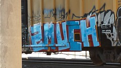 2Much (aldeshsa) Tags: bench grafitti trainart railart benching