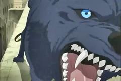 Blue's Maw (qwertyuiop767) Tags: blue rain tongue tooth mouth dark gum fur wolf jaw teeth cartoon wide maw eat animation lip wolfs throat kiba hige wolves gaping slobber vore saliva animae originalfilter