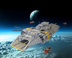 Fire Drake Class Carrier CV-49 Admirals Wrath (Lego Admiral) Tags: ship lego space spaceship battleship carrier starfighter firedrake firewasp shiptember admiralswrath