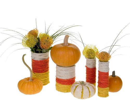 Candy Corn Vases — David Kesler, Floral Design Institute, Inc., in Portland, Ore.