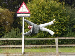 GOC Cheddington 051: High winds (Peter O'Connor aka anemoneprojectors) Tags: england sign funny comedy wind kodak humor humour dummy hertfordshire highwinds goc 2013 longmarston gayoutdoorclub z981 kodakeasysharez981 gochertfordshire hertfordshiregoc goccheddington tringrural