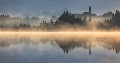 Morning Fog (Achim Thomae) Tags: lake germany landscape bayern deutschland bavaria oberbayern tölzerland landschaft morgens kirchsee badtölz klosterreutberg moorsee thomae achimthomae canoneos5dmarkii gettyimagesartist