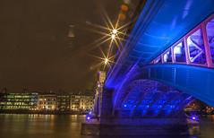 Southwark bridge (Sorin B. VHS) Tags: uk bridge summer london canon lights exposure gb 5d nightlife southwark mark2