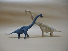 Brachiosaurus comp (shuki.kato) Tags: paper origami dino dinosaur foil tissue fold kato sauropod brachiosaurus shuki origamido giraffatitan