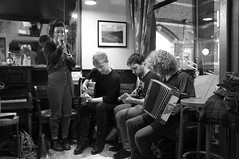 Sunday night music (aduffler) Tags: bw london fuji bee hernehill pullens x100 se24 pullensse24
