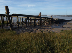 Old ferry jetty, Old Crossing, Aust (vanishing eye) Tags: ferry mud estuary riversevern oldjetty aust oldcrossing