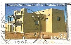 USA Spanish settlement stamp (sftrajan) Tags: stamps stamp adobe timbre commemorative postagestamp philately americanhistory sello americansouthwest briefmarke  spanishsettlement