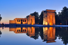 Madrid Reflected (Ricardodaforce) Tags: madrid espaa architecture night reflections temple spain arquitectura nikon clear hdr templo reflejos templodedebod nikond7000