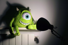 BFF (Felson.) Tags: light shadow verde green mike lamp monster design friendship ombra plush pixar amicizia noia luce luxo bff lampada mikewazowski peluche pupazzo songsundaysonicyouth