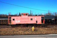 NS 555555 (rrradioman) Tags: red ns indiana cupola newhaven norfolksouthern 555555 cabbose eastwayneyard