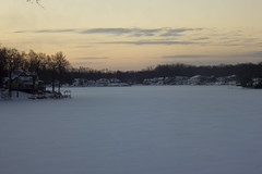 DawnBreaking_1 (veronica p88) Tags: winter orange lake snow cold sunrise canon frozen january peaceful naturephotography