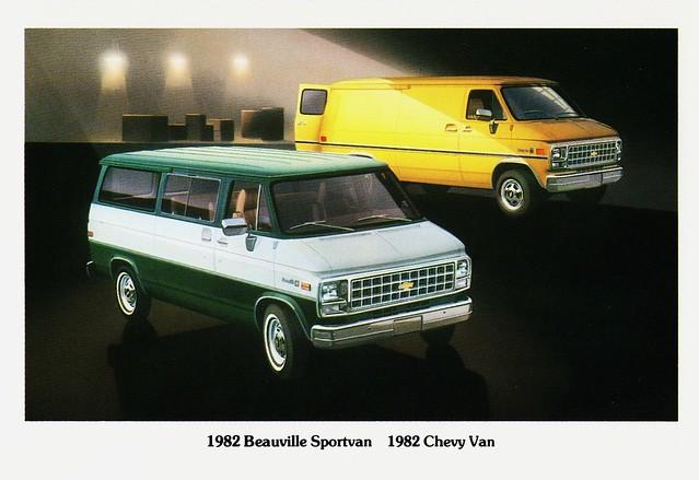 chevrolet truck 1982 postcard chevy van beauville sportvan